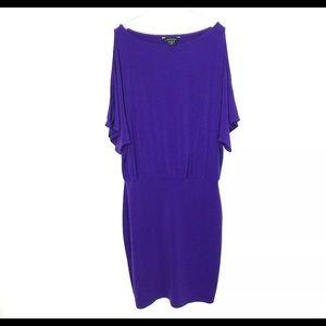 Moda International VS Purple Drop Waist Small